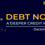 Title image with navy background reads Debt Note: A Deeper Credit Market, a blog by ithought, December 2018