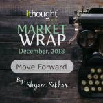 Rustic wood brown background with a typewriter, displaying the title Market Wrap Decemeber 2018 Move Forward by Mr Shyam Sekhar