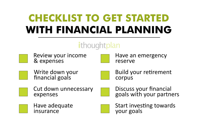 checklist to get started with financial planning - ithoughtplan - banner